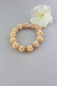 Náramky - perly náramok luxusný (lososová perla) - 9791005_