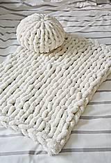 """Úžitkový textil - Rukami pletená deka/koberček """"chunky"""" - 9791176_"""