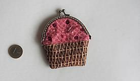 Taštičky - rámčeková mini peňaženka Muffin s posýpkou - 9790413_