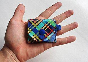 Kľúčenky - Minikapsičky rôzne (modro-tyrkys pásy) - 9790285_