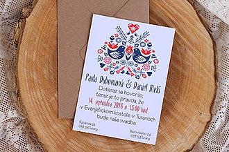 Papiernictvo - Svadobné oznámenie
