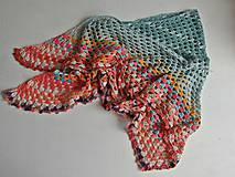 Šatky - Háčkovaná trojuholníková šatka - 9791500_