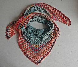 Šatky - Háčkovaná trojuholníková šatka - 9791502_