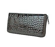 Peňaženky - Originálna kožená peňaženka so vzorom hadiny v hnedej farbe - 9792102_