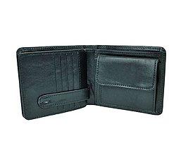 Tašky - Peňaženka z prírodnej kože v čiernej farbe - 9792116_