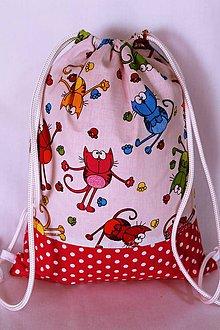 Detské tašky - Detský batoh-veselá mačička - 9791609_