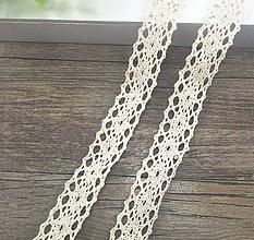 Galantéria - C109 Čipka bavlnená 2 cm / cena za meter - 9792739_