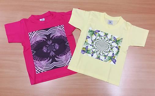 Detské tričko (98,104 - Žltá)