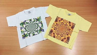 Detské oblečenie - Detské tričko (110-116 - Žltá) - 9790896_