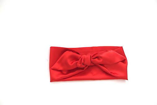 2331a026b Luxusná saténová čelenka červená / CHICLovely - SAShE.sk - Handmade ...