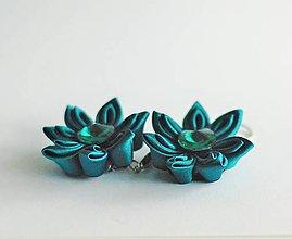 Náušnice - Elegantní kytičkové náušnice - visací - 9792430_