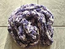 Šály - Infinity šál (fialová melírovaná) - 9789699_