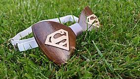 Doplnky - Drevený motýlik Superman - 9791714_