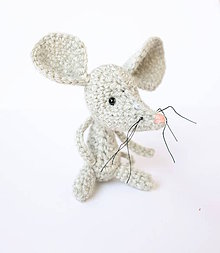 Hračky - myška z vlny (svetlo-sivá) - 9789703_
