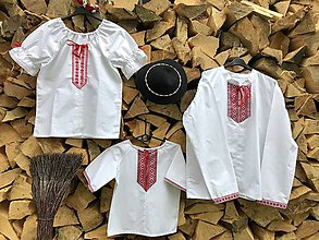 Košele - Rodinný folklórny komplet - 9792725_