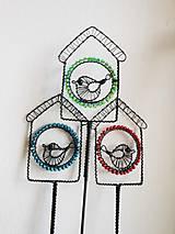 Dekorácie - Ptačí budka - zápich - 9790806_