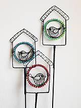 Dekorácie - Ptačí budka - zápich - 9790809_