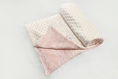 Textil - Minky deka celoročná 100x75cm Ivory & Lines pink - 9789491_