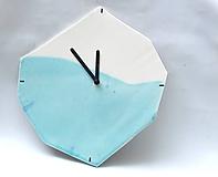 hodiny modré