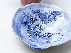 Nádoby - miska modrá hlbšia - 9790527_