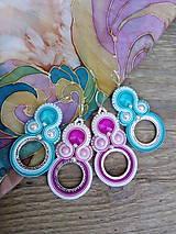 Náušnice - Šujtášové náušnice s kruhy - 9790743_