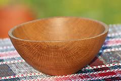 Nádoby - miska z dubového dreva - 9792050_