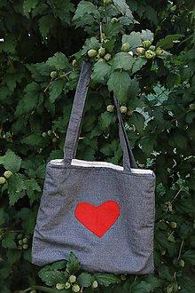 Detské tašky - Detská taška veľké srdce - 9792440_