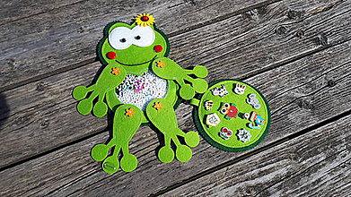 Detské doplnky - Spy bag žabka (Spy bag žabka-s kvietkom) - 9793588_