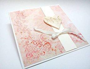 Papiernictvo - Pohľadnica ... svadba ... ružová - 9795016_