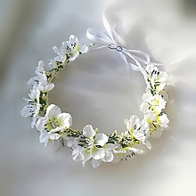 Ozdoby do vlasov - VÝPREDAJ - venček z jabloňových kvetov - 9793012_