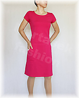 Šaty - Šaty malinovky volnočasové vz.415 (více barev) - 9795091_
