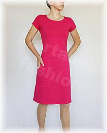 Šaty - Šaty malinovky volnočasové vz.415 (více barev) (Biela) - 9795091_