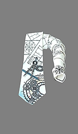 Doplnky - Hodvábna kravata - Technická - 9795906_