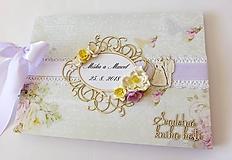 Papiernictvo - svadobná kniha hostí - 9793503_