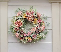 Dekorácie - Celoročný veniec s ružami - 9794971_