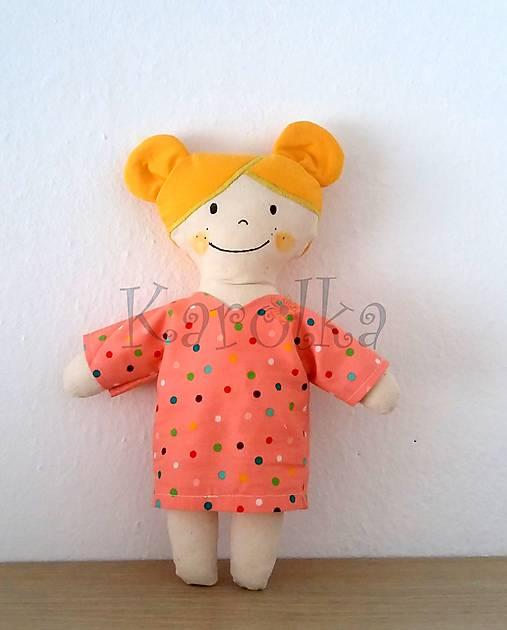 textilná bábika  - Karolka