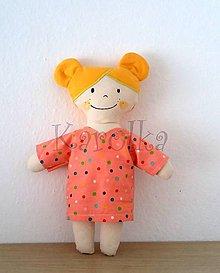 Hračky - textilná bábika  - Karolka - 9795770_
