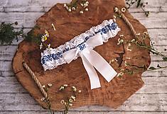 Bielizeň/Plavky - Svadobný folklórny podväzok - 9796041_