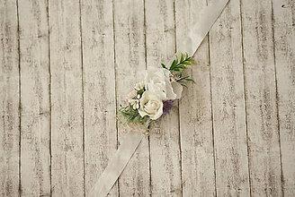 Náramky - Kvetinový náramok pre družičky