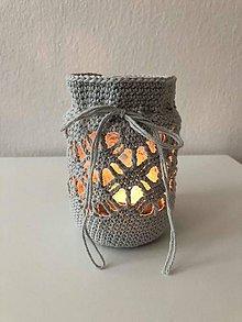 Svietidlá a sviečky - Lucernička sivá - 9795474_
