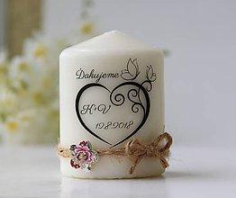 Svietidlá a sviečky - Sviečka - darček pre svadobčanov - 9794746_