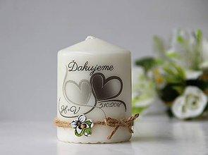 Svietidlá a sviečky - Sviečka - darček pre svadobčanov (Čierno-biela) - 9794785_