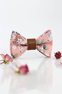 Doplnky - Pánsky exkluzívny motýlik s koženým remienkom - Josephine - 9795095_