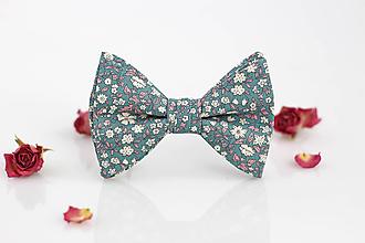 Doplnky - Pánsky kvetinový motýlik z exkluzívnej látky - Daisy - 9795377_
