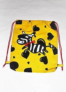 """Detské tašky - detský vak """"zebra"""" - 9795352_"""
