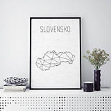 Grafika - SLOVENSKO, minimalistická mapa - 9792837_