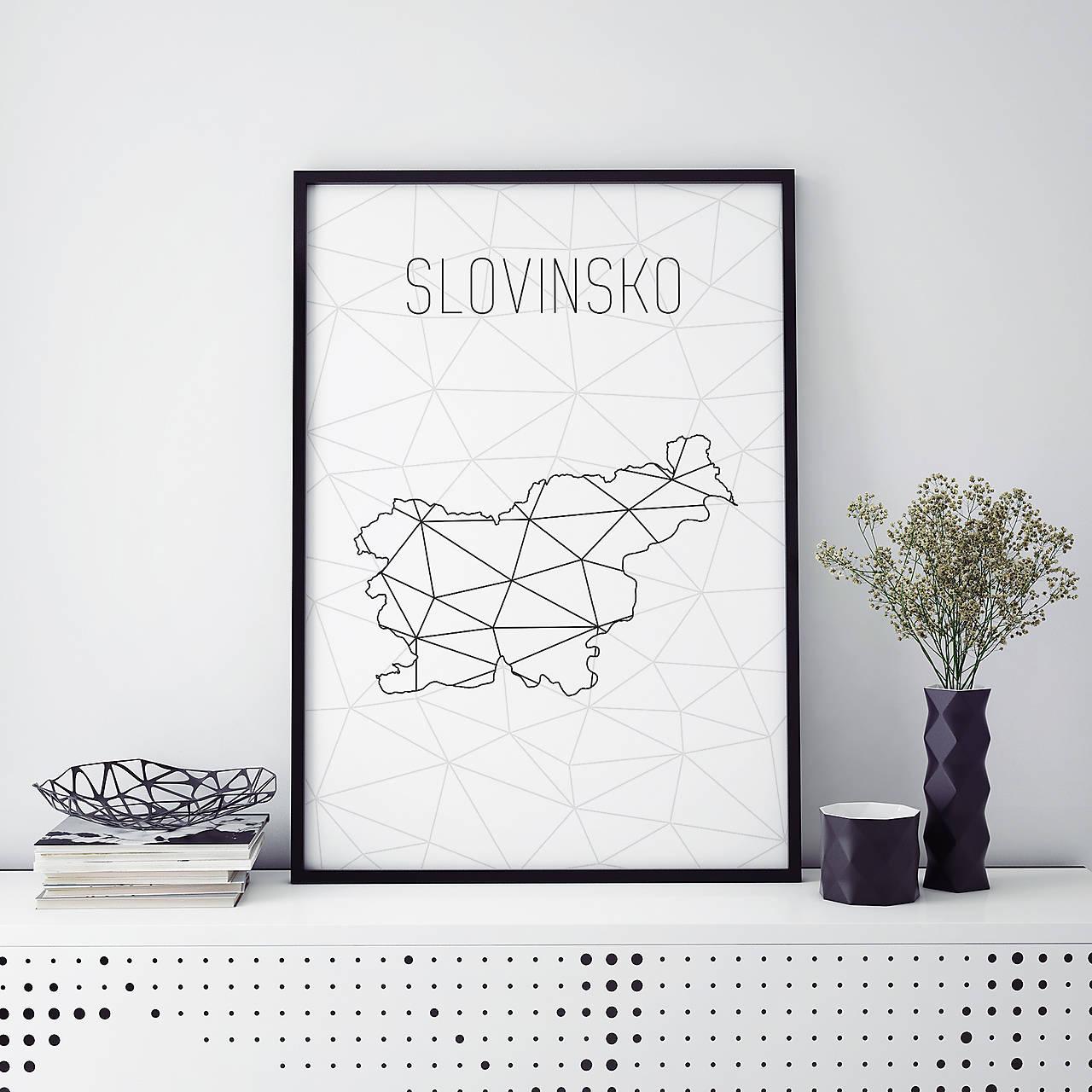 Slovinsko Minimalisticka Mapa A4 Pdf Verzia Pomello Sashe