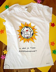 Tričká - Tričko ručne maľované Som mama - 9795957_