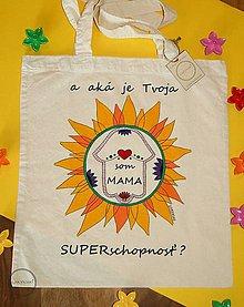 Nákupné tašky - Taška ručne maľovaná Som mama - 9795973_