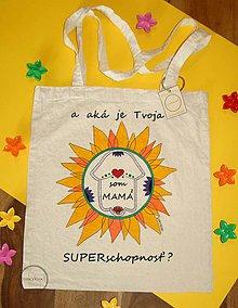 Nákupné tašky - Taška ručne maľovaná Som mama2 - 9795977_